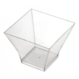 "Plastikbecher ""Pagoda"" Transp. 90 ml (25 Stück)"