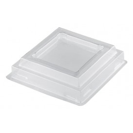 "Deckel für Plastikbecher ""Pagoda"" Transp. PET 120ml (25 Stück)"