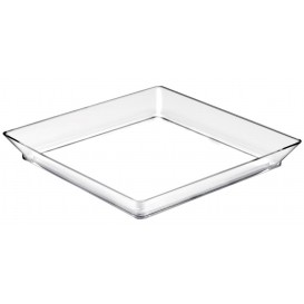 "Plastiktablett ""Medium"" Transparent 13x13 cm (12 Stück)"