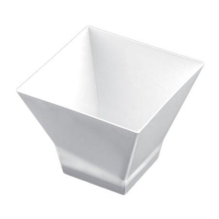 """Plastikschüssel """"Pagode"""" Weiß 150 ml (12 Stück)"""