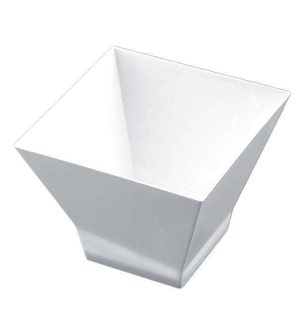 "Plastikschüssel ""Pagoda Medium"" 200ml Weiß. (12 Stück)"