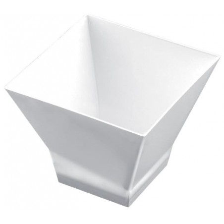 "Plastikschüssel ""Pagode Medium"" 200ml Weiß (12 Stück)"