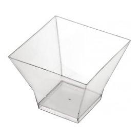 "Plastikschüssel ""Pagoda Medium"" 200ml Transp. (12 Stück)"