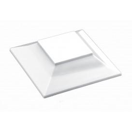"Deckel für Plastikschüssel ""Pagoda Medium"" Weiß 200ml (12 Stück)"