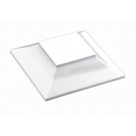 "Deckel für Plastikschüssel ""Pagoda Medium"" Weiß 200 ml (240 Stück)"
