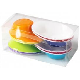 "Plastikschüssel ""Sodo""50 ml Weiß - Farbig (8 Stück)"