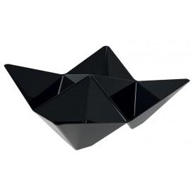 Plastikschüssel Origami PS Schwarz 103x103mm (25 Stück)