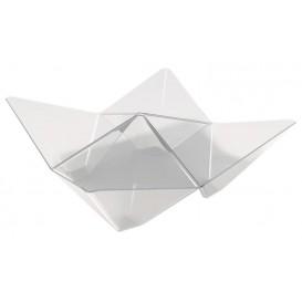 Plastikschüssel Origami PS Transparent 103x103mm (25 Stück)