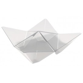Plastikschüssel Origami PS Transparent 103x103mm (500 Stück)