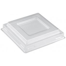 """Deckel für Schüssel """"Square"""" Transp. PET 90 ml (25 Stück)"""