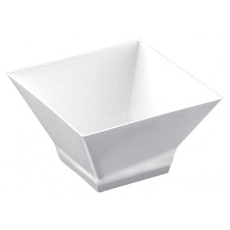 """Plastikschüssel """"Pagode"""" Weiß 350 ml (12 Stück)"""