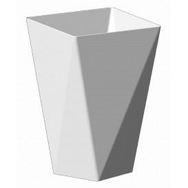 "Plastikbecher ""Diamond"" weiß 150 ml (12 Stück)"