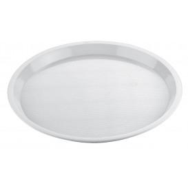 Plastiktablett Präsentation Tray Weiß Ø32cm (5 Stück)