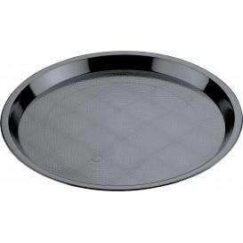 Plastiktablett Präsentation Tray Schwarz Ø32cm (25 Stück)