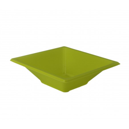 Viereckige Plastikschale Pistazie 120x120x40mm (12 Stück)