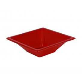 Viereckige Plastikschale Rot 120x120x40mm (12 Stück)