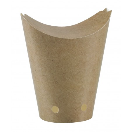 Geschlossene Pommes Box To Go Kraft 325ml (50 Stück)