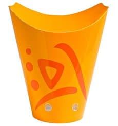 Geschlossene Pommes Box To Go Kraft 480ml (1.000 Stück)