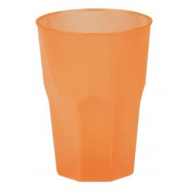 Becher aus Hartplastik Orange PP 350ml (200 Stück)