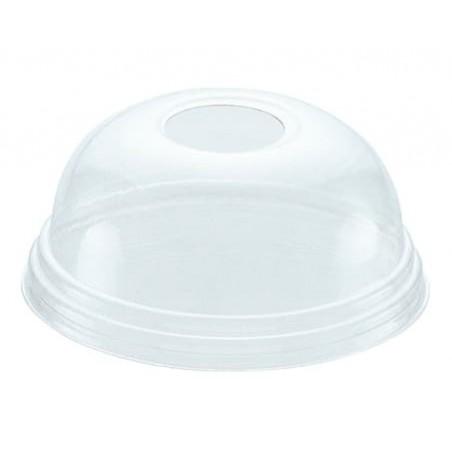 Domdeckel mit Loch für Becher 420ml Ø9,3cm (100 Stück)