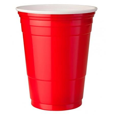 Plastikbecher Rot 360ml (50 Stück)