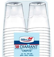 "Hartplastikbecher ""Diamant"" PS Transp. Cristal 50ml (50 Stück)"