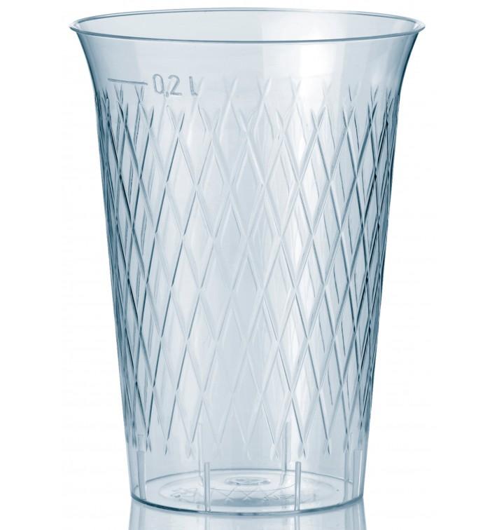 Becher aus Hartplastik mit Rauten 200ml (1000 Stück)