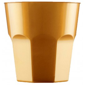 Plastikbecher für Cocktail Gold PS Ø73mm 220ml (50 Stück)