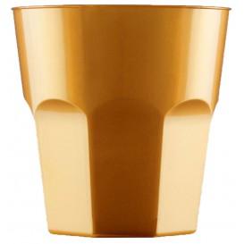 Plastikbecher für Cocktail Gold PS Ø73mm 220ml (500 Stück)