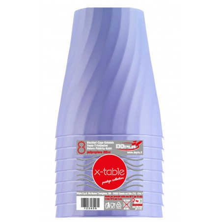 "Plastikbecher PP ""X-Table"" Violett 320ml (8 Stück)"