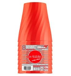 "Plastikbecher PP ""X-Table"" Orange 320ml (8 Stück)"
