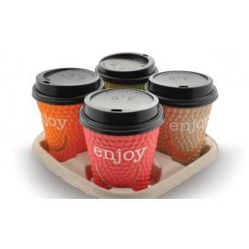 "Kaffeebecher Wellpappe mit Dekor ""Enjoy"" 9 Oz/270 ml Ø8,0cm (1050 Stück)"