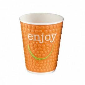 "Kaffeebecher Wellpappe mit Dekor ""Enjoy"" 16 Oz/495 ml Ø9,0cm (28 Stück)"