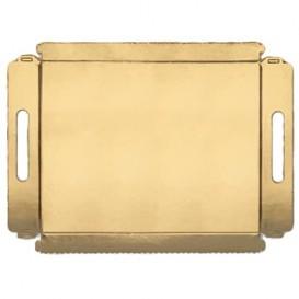 Papptablett gold mit Griffen 12x19cm (100 Stück)