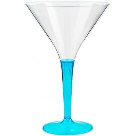 Cocktailglas Plastik mit Fuß türkis 100ml (6 Stück)