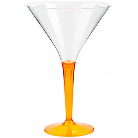 Cocktailglas Plastik mit Fuß orange 100ml (6 Stück)