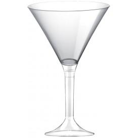Martinigläser aus Plastik mit Transparent Fuß 185ml (20 Stück)