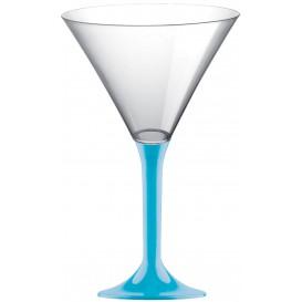 Martinigläser aus Plastik mit Türkis Fuß 185ml (20 Stück)