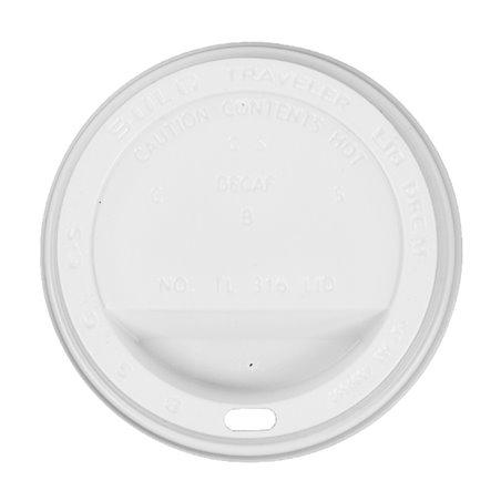 Deckel für Becher mit Trinkloch weiß 12, 16 und 20 Oz Ø8,9cm (100 Stück)
