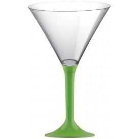 Martinigläser aus Plastik mit Grasgrün Fuß 185ml (20 Stück)