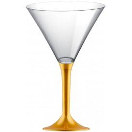 Martinigläser aus Plastik mit Gold Fuß 185ml (200 Stück)