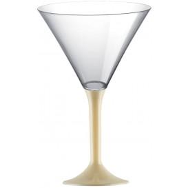 Martinigläser aus Plastik mit Creme Fuß 185ml (200 Stück)