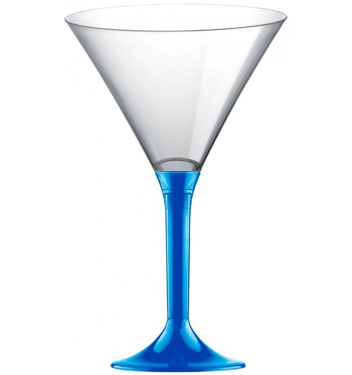Martinigläser aus Plastik mit Blau Mittelmeer Fuß 185ml (20 Stück)