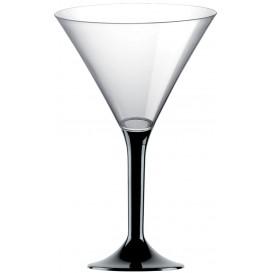 Martinigläser aus Plastik mit Schwarz Fuß 185ml (20 Stück)