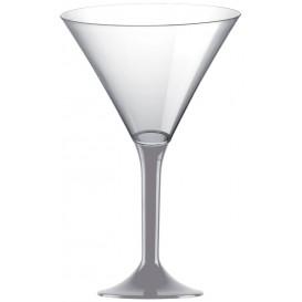 Martinigläser aus Plastik mit Grau Fuß 185ml (20 Stück)