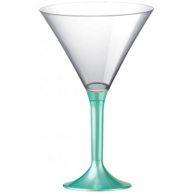 Martinigläser aus Plastik mit Tiffany Fuß 185ml (200 Stück)