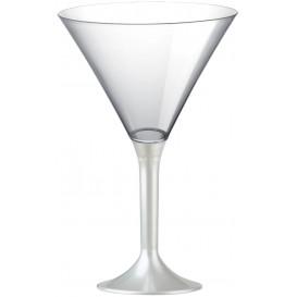 Martinigläser Plastik mit Weiß Fuß 185ml (20 Stück)