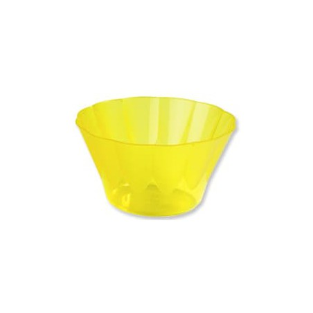Copa ROYAL para  COCTAIL Amarilla de Plastico 500ml (Paquete 25