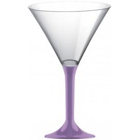 Martinigläser aus Plastik mit Flieder Fuß 185ml (20 Stück)