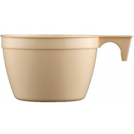 Plastiktasse Cup Beige PP 90ml (50 Stück)